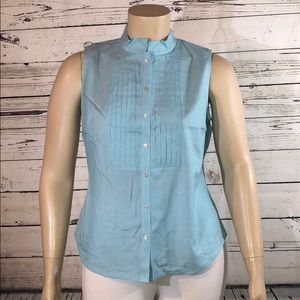 Talbots Wrinkle Resistant NWT 16p Pleated Tank Top
